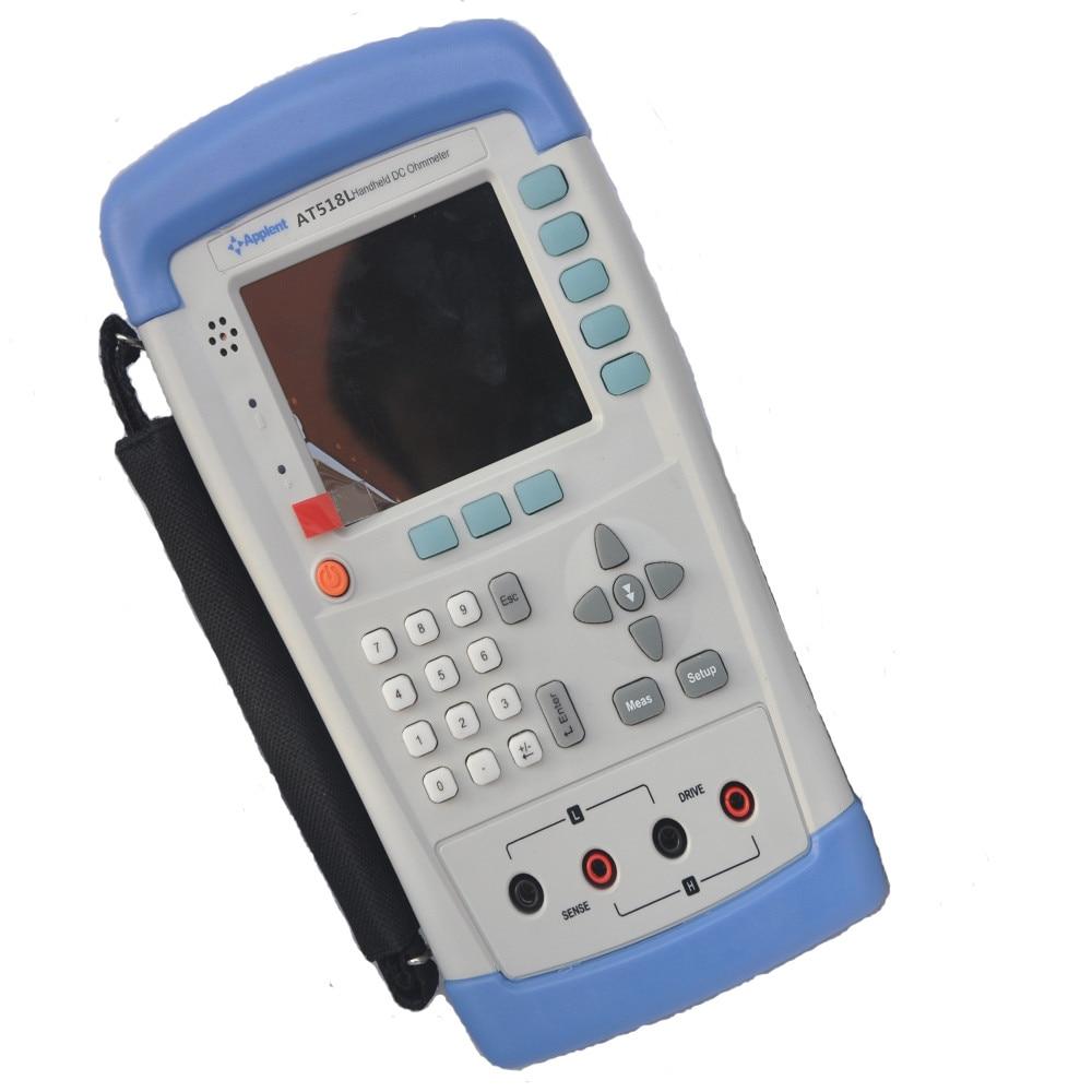 Ohm do Medidor Handheld Resistência Medidor Tester 10u Ohm200 k Ohm Miliohm Micro dc