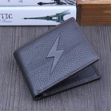 лучшая цена 2018 Cool Men Purses Genuine Leather Wallets Short Black Clutches Bag Wallets Punk Style Thin Clutch Purse Card Holder wholesa