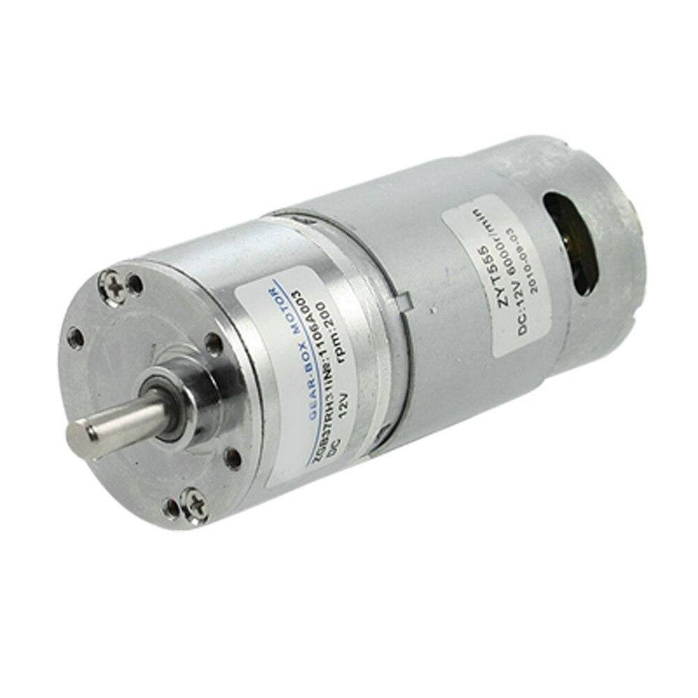 UXCELL(R) High Quality 1Pcs 200RPM 12V 2.1A 5.8Kg.cm Torque DC Geared Motor