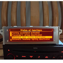 12 Pin Автомобильная Поддержка USB Bluetooth 4 меню дисплей красный монитор для peugeot 307 407 408 citroen C4 C5 красный экран