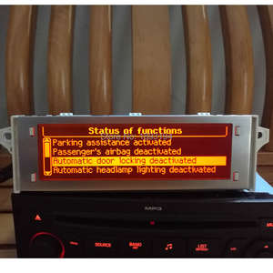 Monitor Screen Display Bluetooth Peugeot Citroen USB for 307/407/408 C4 C5 Red 4-Menu