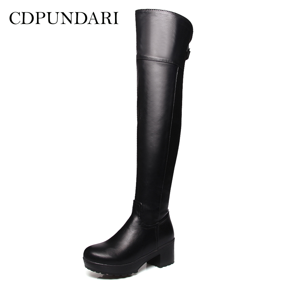 CDPUNDARI High heel over the knee boots women thigh high boots Ladies Platform winter shoes woman 8 pcs set queen princess cinderella elsa anna little mermaid snow white alice princess pvc figures toys children gifts