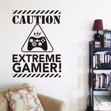 YOYOYU Decal Caution Extreme Gamer Wall Video Games Sticker for Kids/ boys Bedroom Decor Art Mural Y026