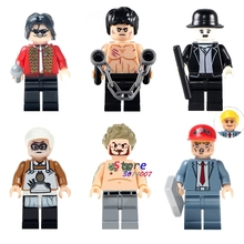 Single Bruce Lee Charlie Chaplin Donald Trump Michael Jackson Miyazaki Hayao Beckham building blocks bricks toys for children