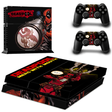 New Dead Pool Vinyl Skin Decals Sticker Cover for PS4 Playstations 2 Controllers