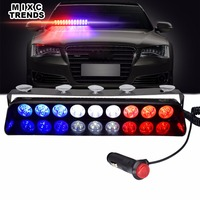 27 Led Dash Strobe Light DC 12V Car Windshield Police Light Bar Auto LED Emegency Flashing Dash Warning Light With Suction Cups