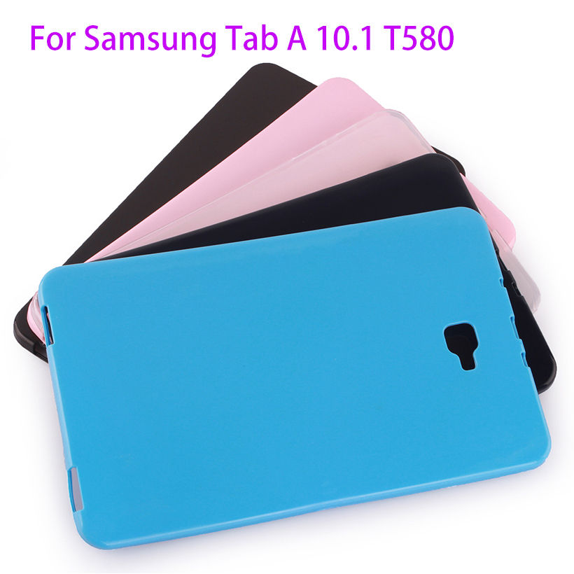 Soft Silicon Rubber TPU Case For Samsung Galaxy Tab A A6 10.1 2016 T580 T585 SM-T580 T580N Case Funda Tablet Back Cover Shell case for samsung galaxy tab a a6 10 1 2016 t580 sm t585 t580n cover funda tablet fashion cartoon cat print tpu pu leather shell