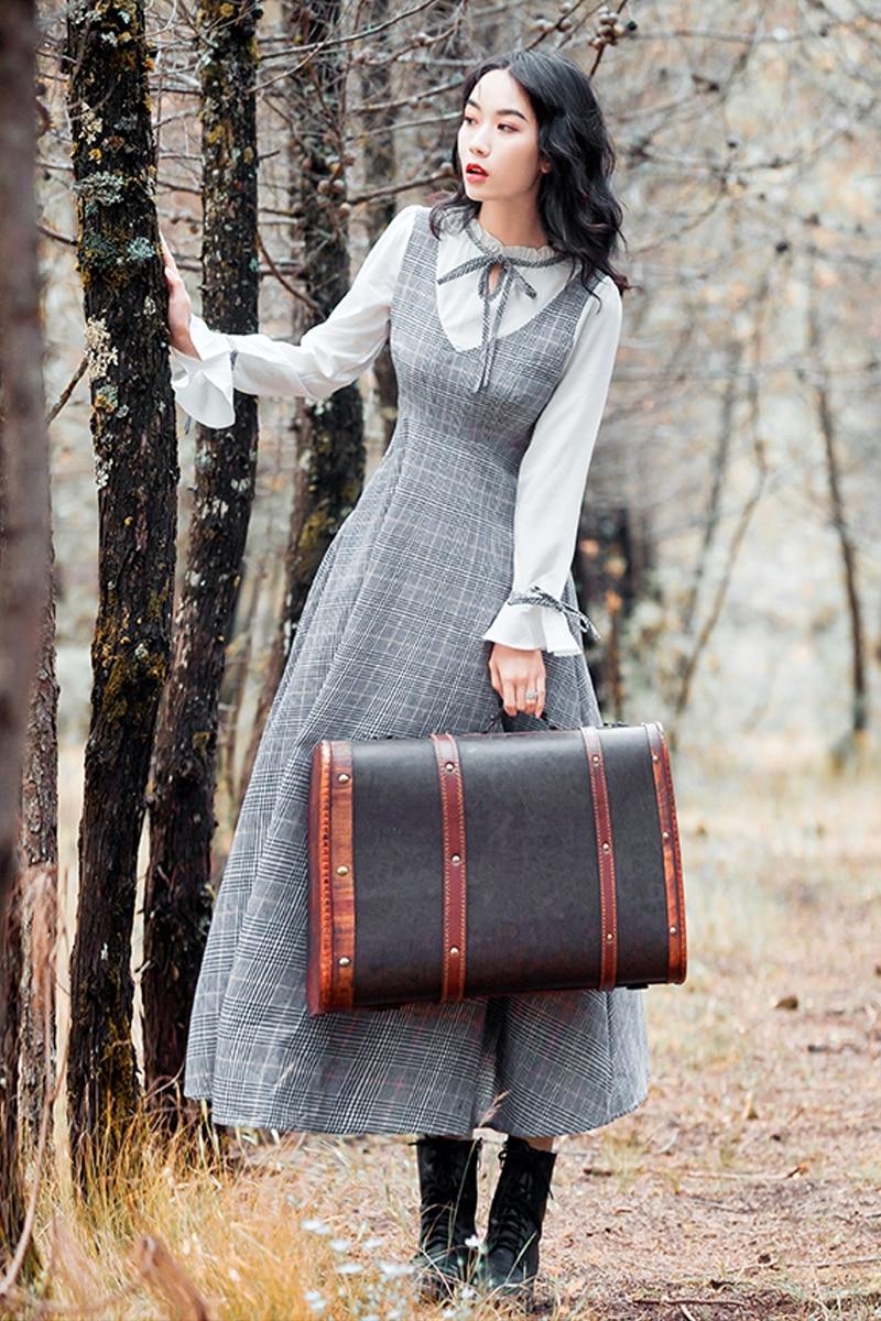 Modo Abbigliamento Nuove Del 1 Di Per 2019 Adulti Plaid Vestito Donne Cucitura SUzMqVp