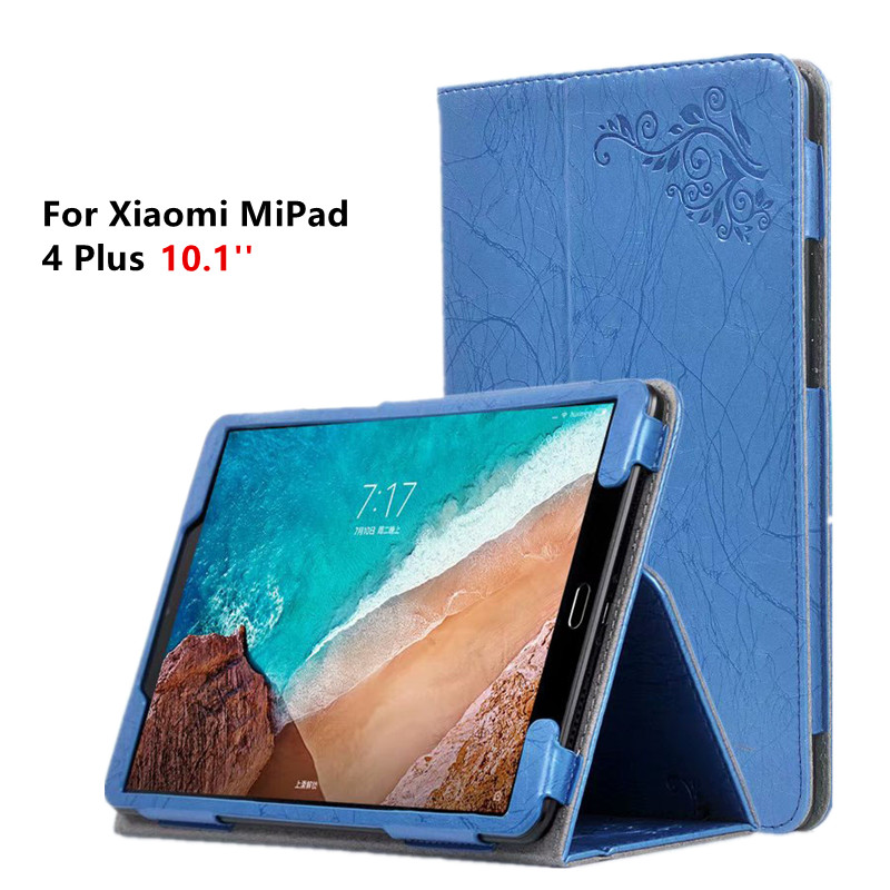 где купить Leather Case For Xiaomi Mi Pad 4 Plus Floral Print Magnet Smart Cover For Xiaomi MiPad 4 Plus Mi Pad4 Plus 10.1