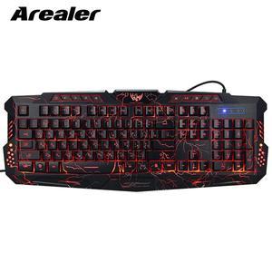 Image 2 - J60 Gaming Keyboard Mouse Combo Anti ghosting Adjustable DPI Colorful Backlit for Desktop Notebook Laptop PC Computer