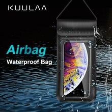 KUULAA Waterproof Phone Case Sealed Clear Bag For Xiaomi iPhone Huawei Samsung Ulefone Mobile Diving Swim Spa Boat Drifter