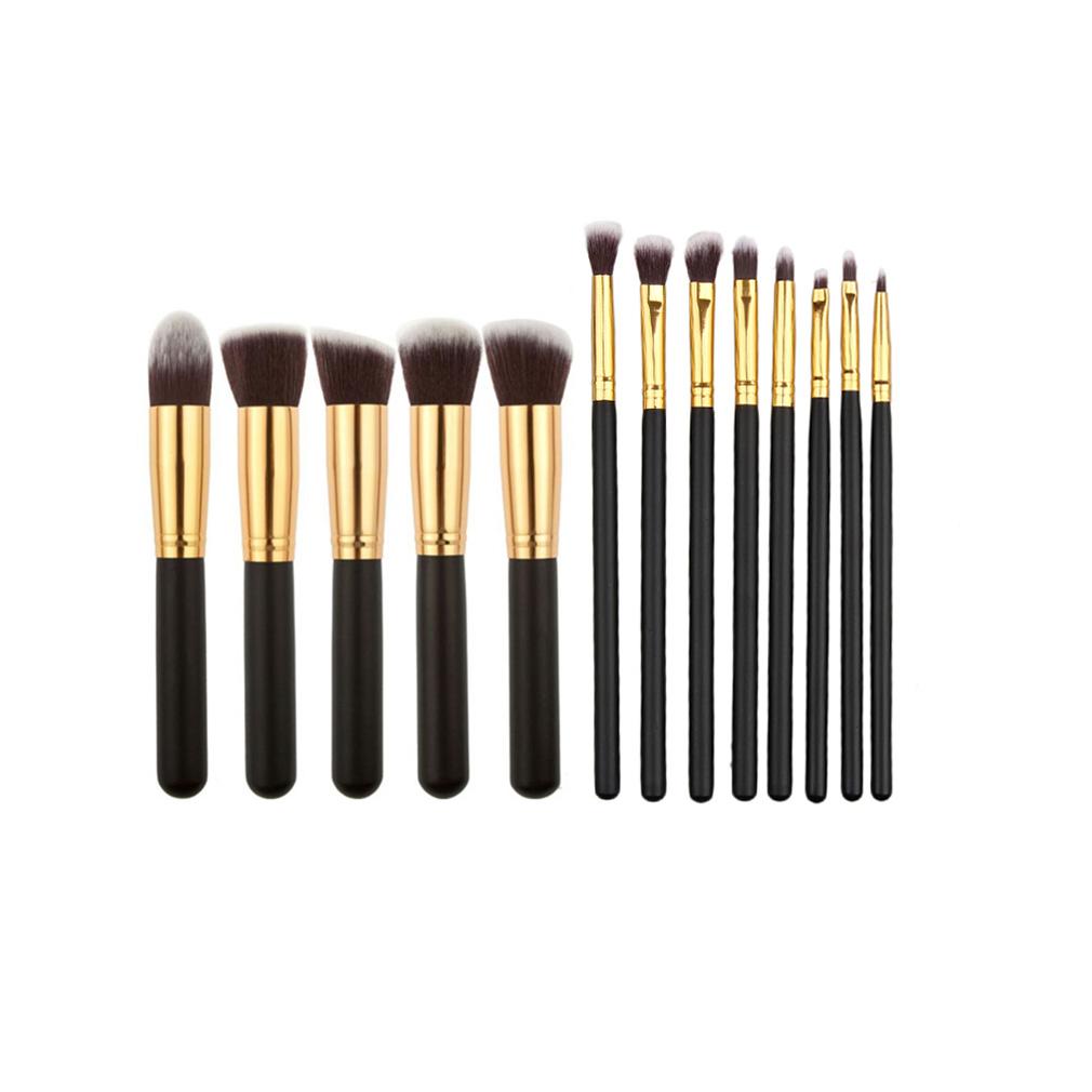 2017 Caliente! 13 UNIDS Oro Plateado Color de cepillo del maquillaje Pro Tool Kit Cosmético Colección de Accesorios 100% de La Nueva Venta