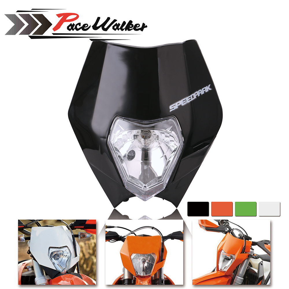 FREE SHIPPING 4 Color Motorcycle Dirt Bike Motocross Supermoto Universal Headlight Fairing For KTM SX EXC