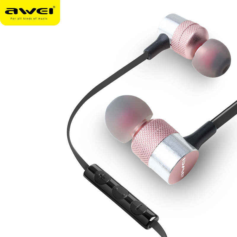 Awei ES-20TY Headset In-Ear Earphone 3.5mm plug Universal Smart Earphone Music Headset for ios /android Smart Phone