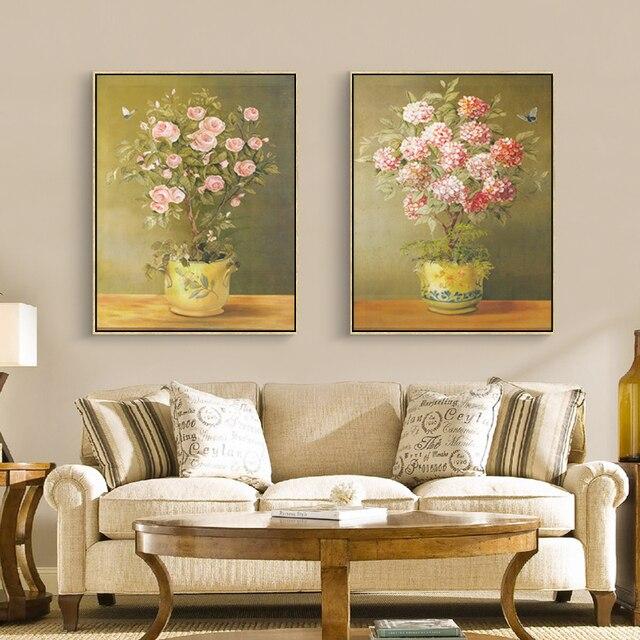 VOLLES HAUS Blume Kunstdruck Poster Kreative Design Leinwand Malerei  Wandbilder Schlafzimmer Wohnzimmer Home Decor Kein Rahmen