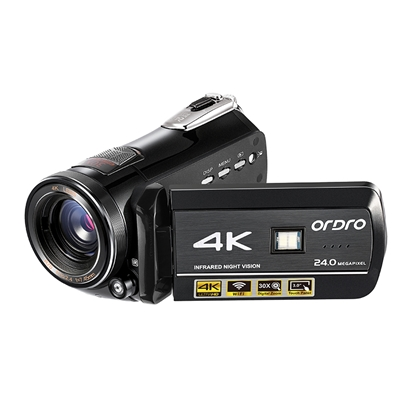 Ordro HDR-AC1 4K(Interpolation) Protable Digital Video Camcorder DVR  WiFi Digital Zoom 3