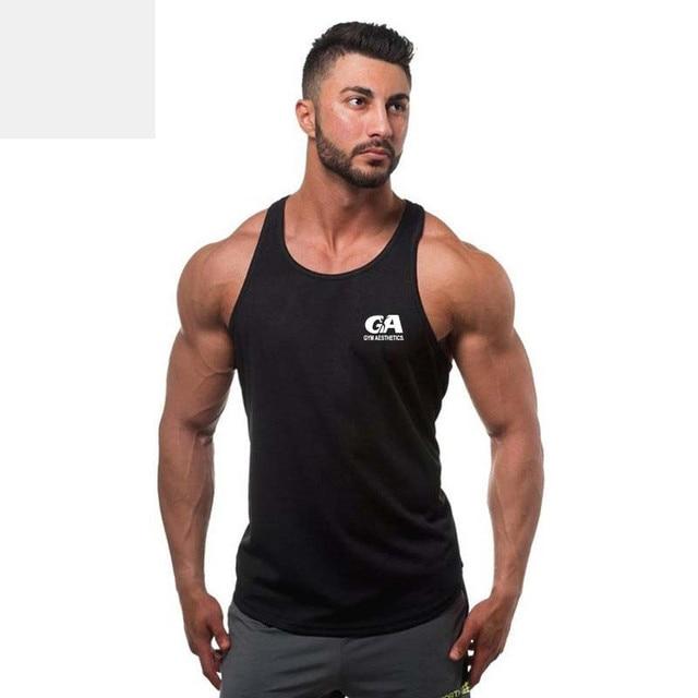 1f0f78d264220 Gyms Brand Bodybuilding Clothing fitness Racerback Tank Top Men Sportwear Sleeveless  Vest Cotton Singlets Muscle vest