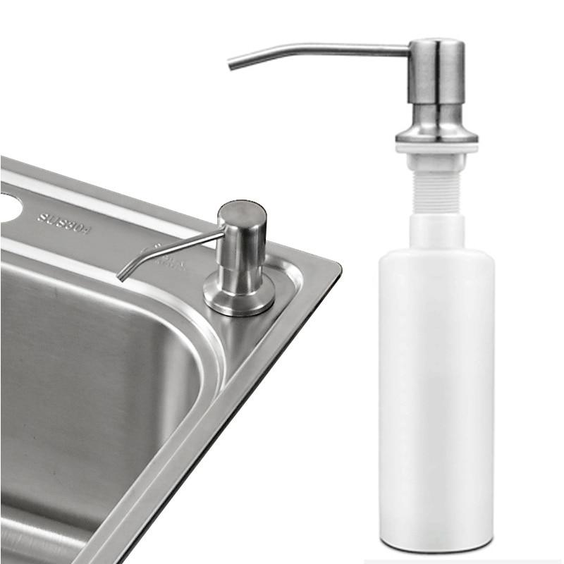 stainless steel liquid soap dispenser promotion deck mount brushed nickel soap dispenser kitchen sink soap box bottle - Foam Soap Dispenser