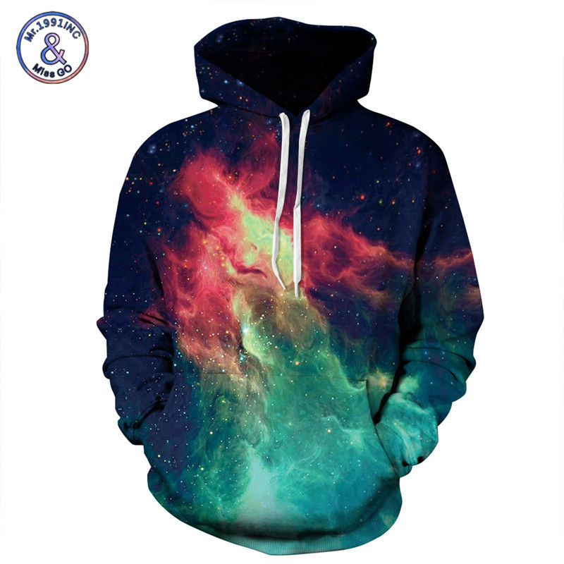 2017 Hot Sale Fashion 3D Sweatshirt Men/Women Pullover Hoodies Flame Starry Sky Print Sweatshirts With Hoody Size S--3XL