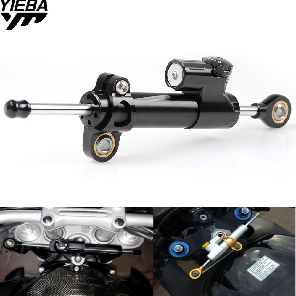 Motorcycles Adjustable Steering Stabilizer Damper FOR Kawasaki z800 z1000 Yamaha TMAX500 530 KTM DUKE 250 990 SupeRDuke 690 DUKE steering damper for ktm 690 duke 2012 2018 690 duke r 2011 2018 stabilizer with mount bracket motorcycle accessories