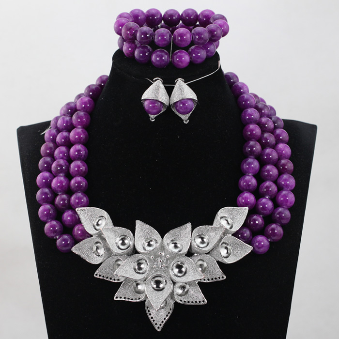 Trendy Chunky Fashion Vintage Women Wedding Necklace Set Purple Crystal Beads Jewelry Sets Multilayer Bohemian Statement ABH289Trendy Chunky Fashion Vintage Women Wedding Necklace Set Purple Crystal Beads Jewelry Sets Multilayer Bohemian Statement ABH289