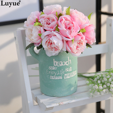 Buy wedding decoration store and get free shipping on aliexpress luyue official store european style artificial 10 head peony wedding decoration silk flowers diy home decoration junglespirit Gallery