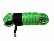 الأخضر 12 مللي متر * 30 متر الاصطناعية حبل رفع ، استبدال ونش كابل ، البلازما حبل ، ATV ونش الملحقات ، المغلفة ونش كابل