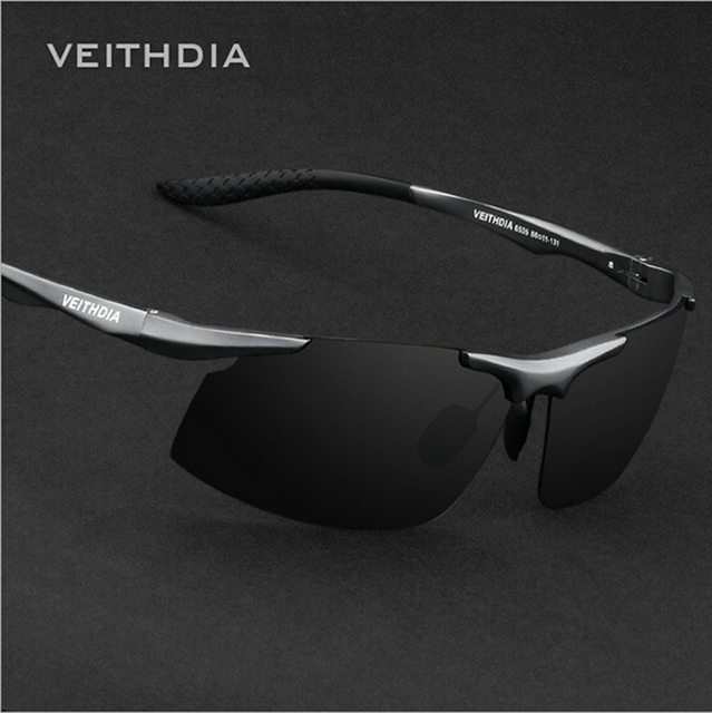 VEITHDIA Aluminum Polarized Sunglasses Men Sports brand Sun Glasses Driving Mirror Eyewear Wholesale 6535