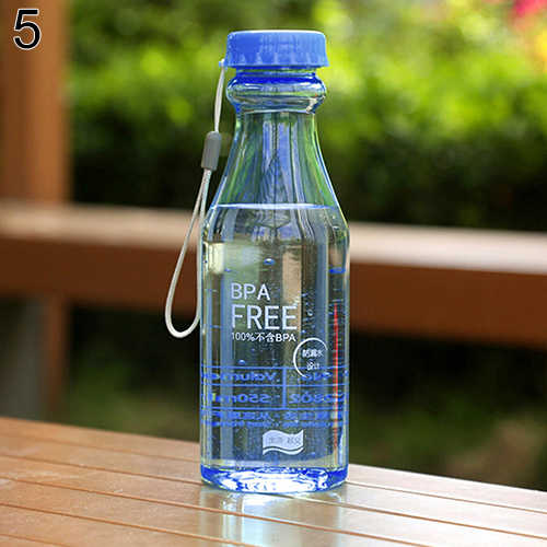 Sport Bottle  550ml Capacity Multicolor Transparent  Cycling Bicycle Bike Sports Running Man Unbreakable Plastic Water Bottle