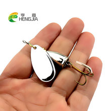 HENGJIA 1PC 6.5CM 8.5G hard metal spinnerbaits trolling blade sequins spinner spoons wobbler catfish pesca fishing tackles(China)