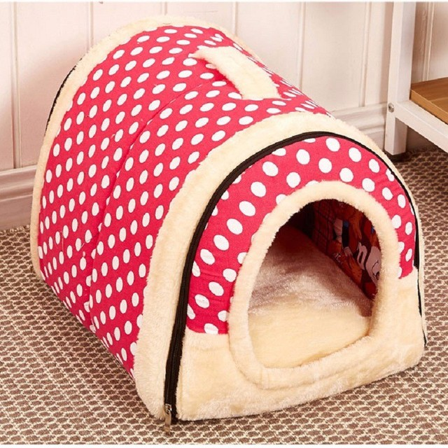 Pet Dog House Nest With Mat Foldable Pet Dog Bed Cat Bed House For Small Medium Dogs Travel Kennels For Cats Pet Products 5