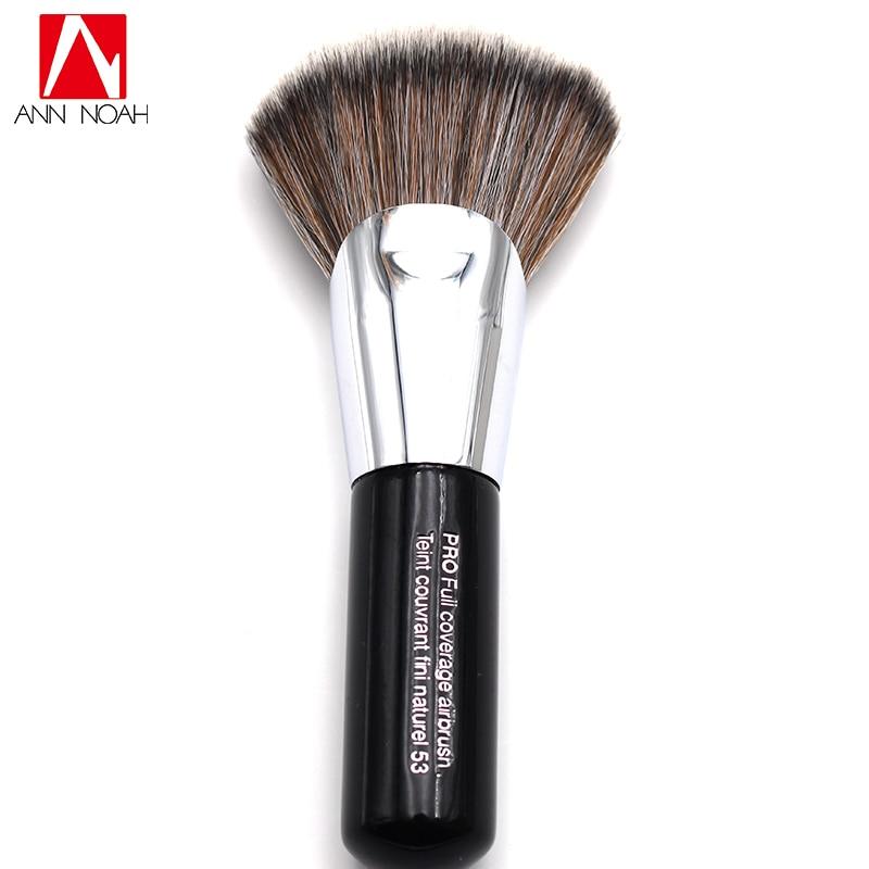 2017 New Arrival Black Short Wood Handle Teint Couvrant Fini Naturel 53 Large Pro Full Coverage Powder Makeup Brushes lancome teint renergie lift тональный крем