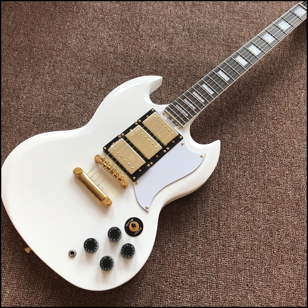 High Quality S.G G 400 Electric guitar with 3 Pickups,Cream Cream White color, All Color are available,Real photo shows
