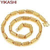 2017New Fashion Copper Alloy Necklace For Men Gold Color Necklace Chain 60CM Long Men S Vintage