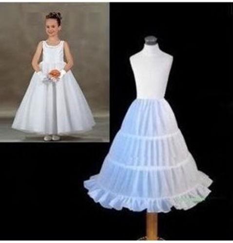 2017 Barato Nueva Una Línea de 3 Aros Niños Kid Vestido de Novia Accesorios de Boda Enaguas de la Enagua de La Crinolina Para El Vestido de Niña de las Flores