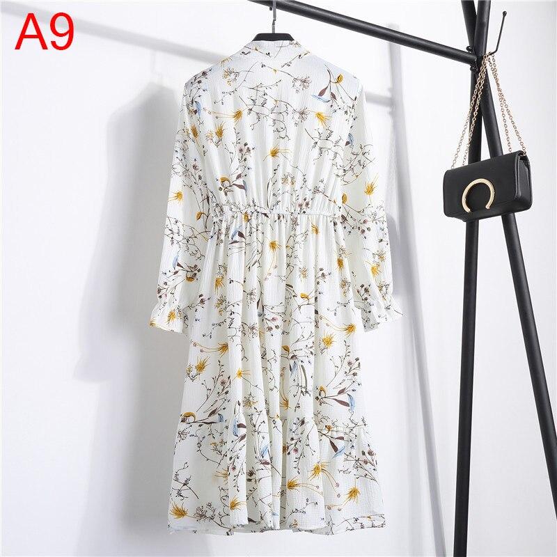 Korean Black Shirt Vestidos Office Polka Dot Vintage Autumn Dresses Women Winter Dress 19 Midi Floral Long Sleeve Dress Female 37