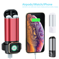 3 In1 Wireless Charger for IPhone AirPods Apple Watch Series 4/3/2/1 5200mAh Power Bank Portable Charger Usb Charger Universal