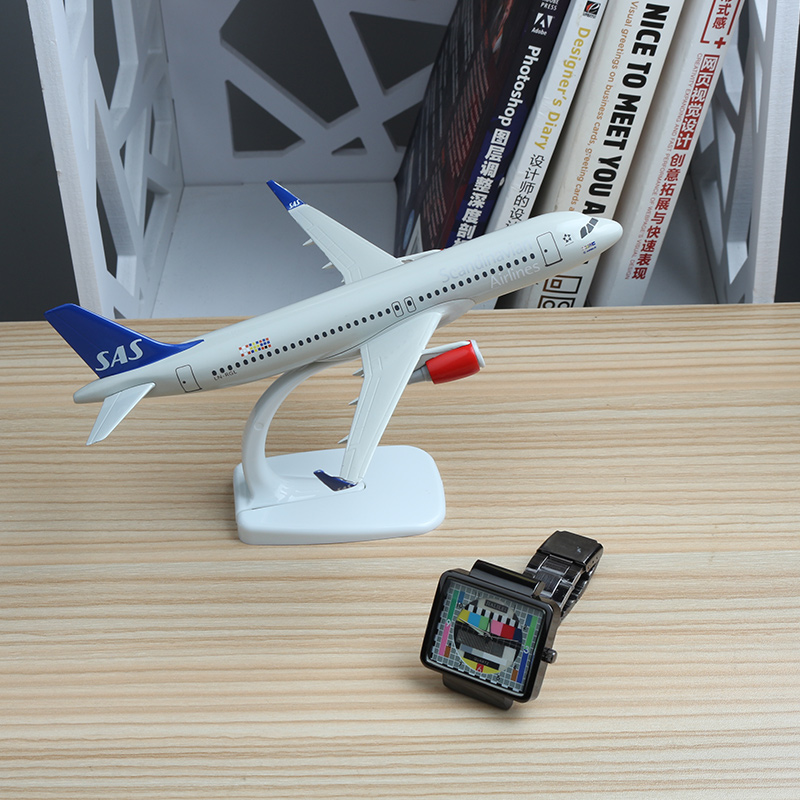 20cm SAS Northern Europe Airline Scandinan Airbus Plane Model Zinc ...