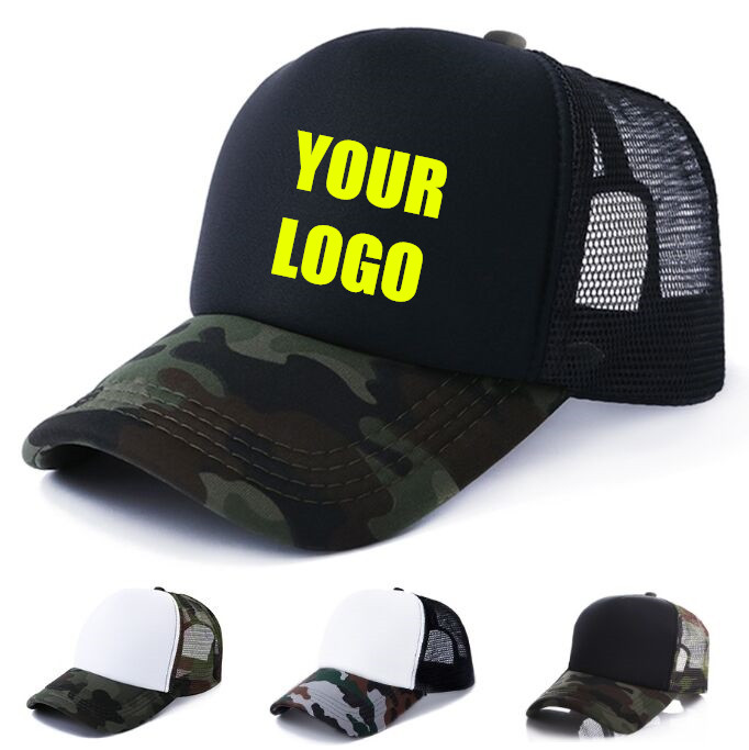 Mailbox Embroidery Cotton One Size Custom Camo Mesh Trucker Hat You Got Mail