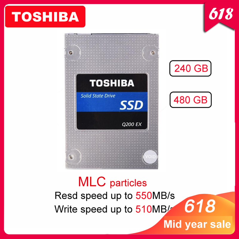 "Image 1 - Original TOSHIBA 240GB Internal solid state drive Q200 EX 480GB MLC Hard Drive Disk 2.5"" SATA 3 SSD  High Speed Cache for Laptop-in Internal Solid State Drives from Computer & Office"