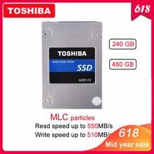 """מקורי TOSHIBA 240 GB הפנימי Q200 EX 480 GB MLC כונן דיסק 2.5 """"SATA 3 SSD גבוהה מהירות מטמון עבור מחשב נייד"""