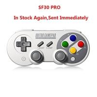 8Bitdo SF30 Pro Gamepad Controller Joystick for Nintendo Switch Windows Mac OS Android Rumble Vibration Motion Controls USB C