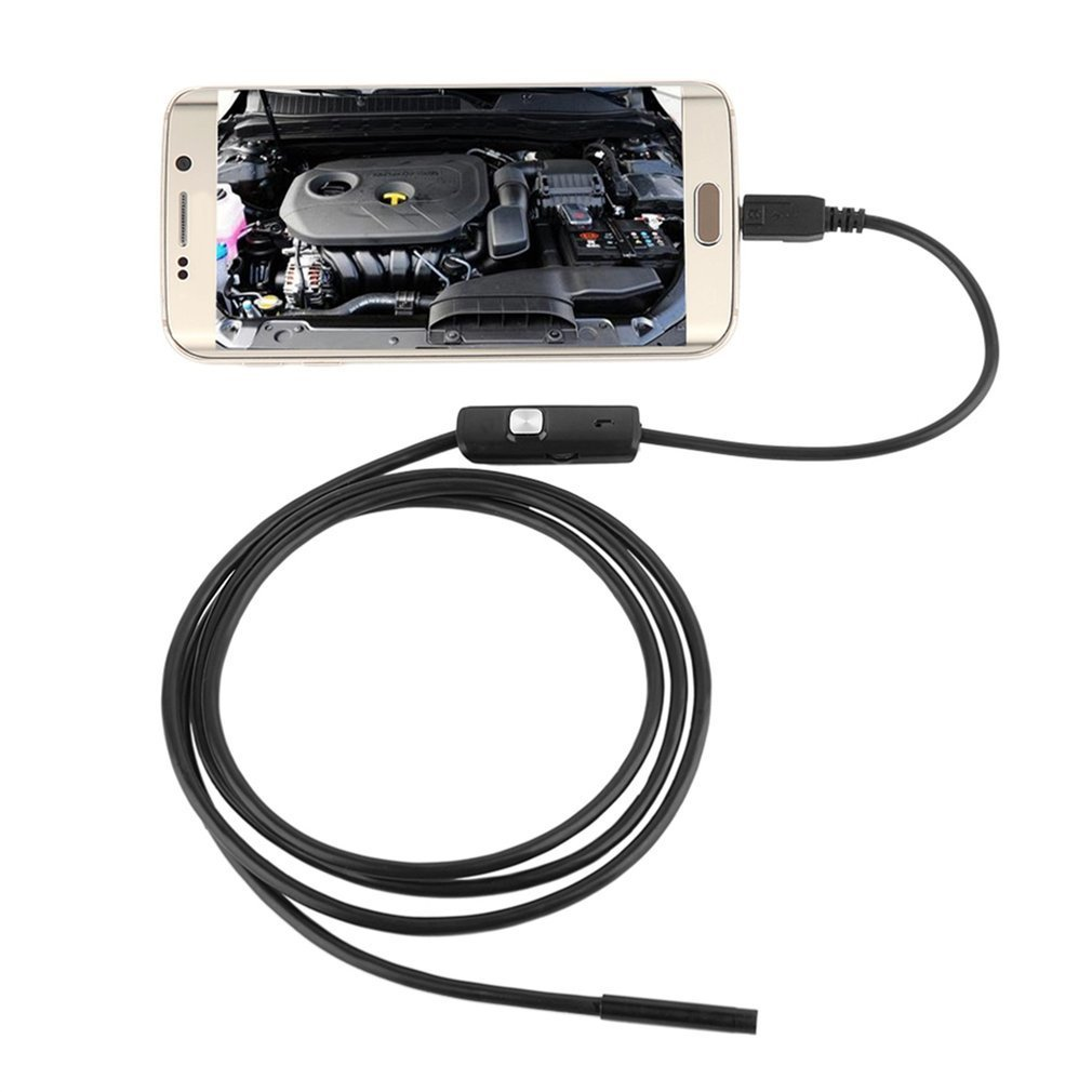7mm 1M endoscopio Cámara IP67 inspección impermeable boroscopio cámara para Android ordenador portátil 6LEDs ajustable 2019 caliente 2M 1M 7mm Cámara endoscópica Flexible IP67 impermeable inspección boroscopio cámara para Android PC Notebook 6 ledes ajustable