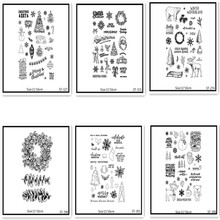 AZSG Merry Christmas Clear Stamps For DIY Scrapbooking Rubber Stamp/ Seal Paper Craft Stamp Card Making