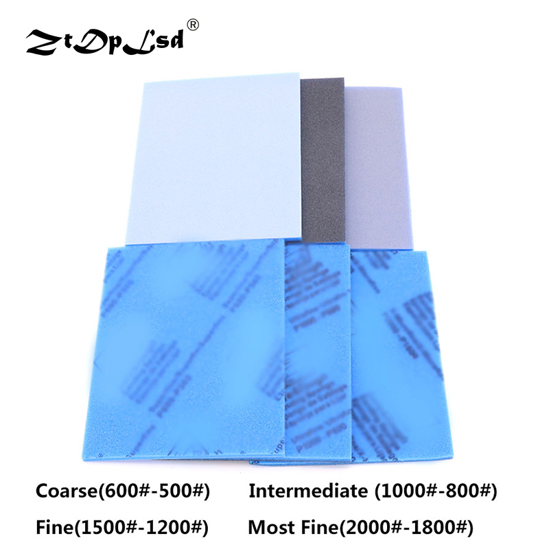ZtDpLsd 1Pcs 500 To 2000 Grit Wet/Dry Sponge Sandpaper Sliding Mark Polishing Plastic Shell Elastic Grinding Block Polish Tools
