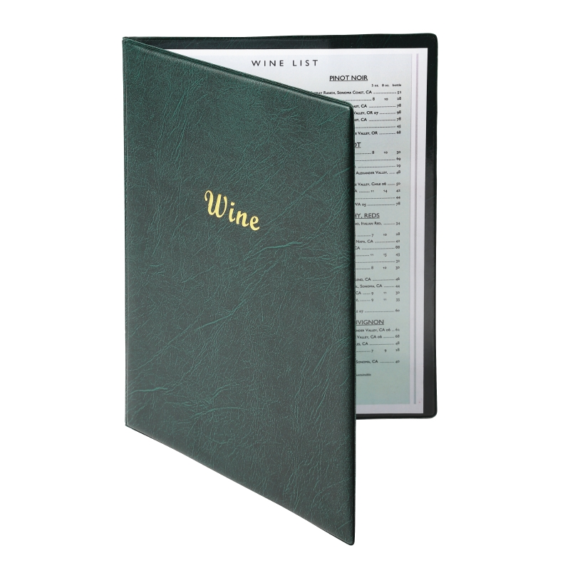 QSJY File Cabinets Hotel Recipe Book A4 Transparent PVC Insert Loop-Leaf Menu with Order Book Price List Making 1 Pages 2 Sides