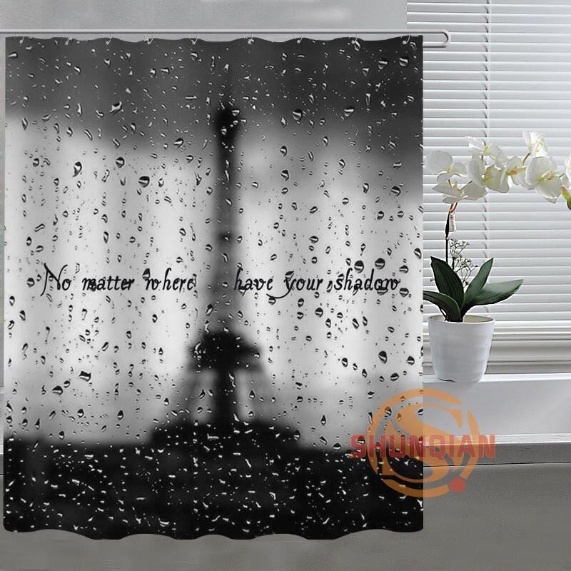 Mondern Paris Eiffel Tower Custom Shower Curtain Bathroom Fabric For  Bathroom Decor Bathroom Curtain Acceptable Custom