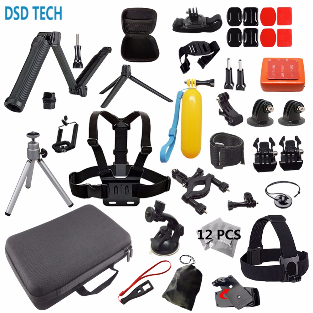 DSD TECH for gopro hero 5 accessories 3 way mount head strap mount for hero 5