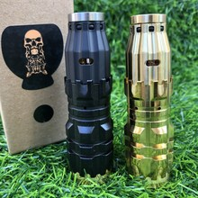 AV CompLyfe mini mod KIT Vaporizer brass Mechanical Mod 18350 battery 24mm diamater vape vs Rogue Mod Kit e cigarette Vaper mods electronic cigarette jsld 80w kit vape built in 2000mah battery box mod large smoke steam vape kit vs txw 80w vape e cigarette