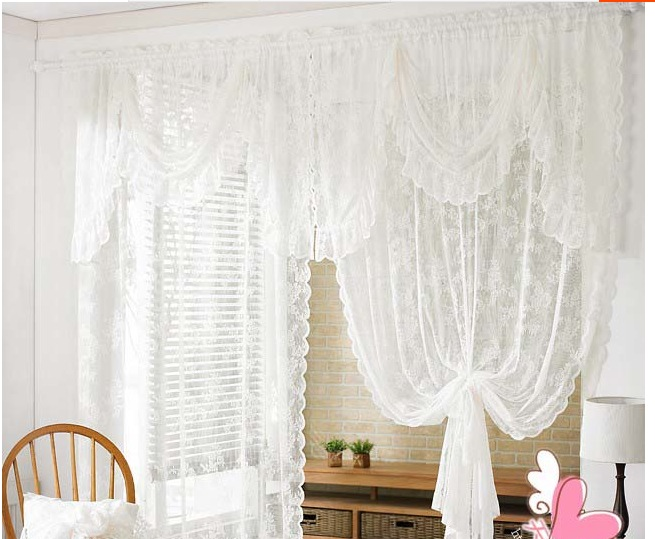1pc Korean Lace Curtain With Wave Shape Head Windows Luxury Sheer Curtains For Kitchen Living Room The Bedroom Design Window Curtains Aliexpress